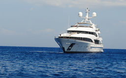 Luxury Yacht. On the ionian sea Stock Photography