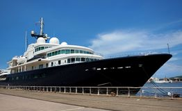 luxury Yacht Le Grand Bleu在台湾 免版税库存图片
