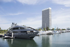 The Luxury Yacht are leaving port Royalty Free Stock Photo
