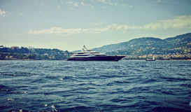 Luxury Yacht. Luxory Yacht anchoring on the sea Stock Images
