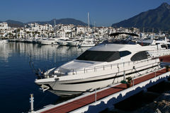 Luxury yacht in Marbella Stock Photos