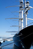 Luxury Yacht in Marina Royalty Free Stock Image