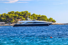 Luxury yacht on the mediterranean sea Royalty Free Stock Images