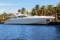 Luxury yacht. Luxury and modern yacht in florida royalty free stock photography