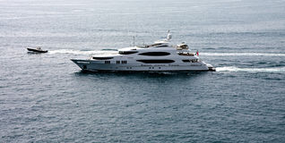 Luxury Yacht and Motor Boat Stock Images
