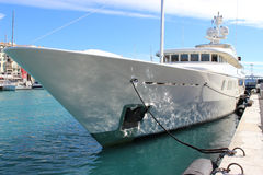 Luxury Yacht in Nice. Beautiful and luxurious yacht in the port of Nice Royalty Free Stock Images