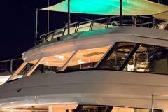 Luxury yacht in the night. Sardinia, Italy Royalty Free Stock Image