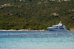 Luxury yacht on paradise sea Stock Photography