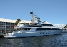 Luxury yacht in port Stock Image