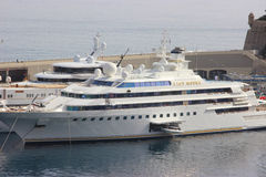 Luxury Yacht in the Port of Monaco Royalty Free Stock Images