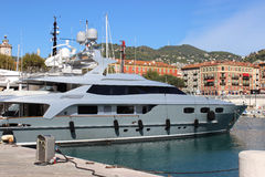 Luxury Yacht in the port of Nice, France Stock Photos