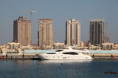Luxury yacht in Porto Arabia, Doha Stock Image