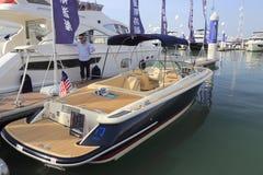 Luxury yacht rear view  corsair 25 Stock Photo