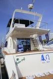 Luxury yacht rear view novatek 52 Royalty Free Stock Photos