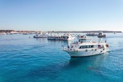 Luxury yacht in the Red Sea Stock Photos