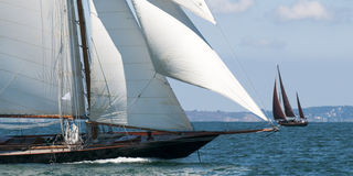 Luxury yacht sailing Royalty Free Stock Photos