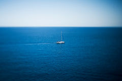 Luxury yacht sailing on the sea Royalty Free Stock Photography