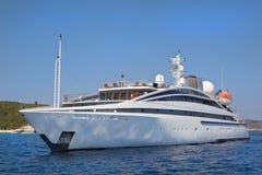 Luxury yacht at sea. Stock Photos