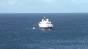 Luxury yacht at sea stock video footage