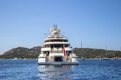 Luxury yacht in the sea Stock Image