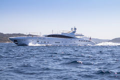 Luxury yacht in the sea Stock Photo
