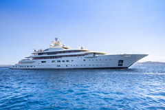 Luxury yacht in the sea Royalty Free Stock Photos