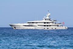 Luxury yacht in the sea. Sardinia, Italy Royalty Free Stock Photos