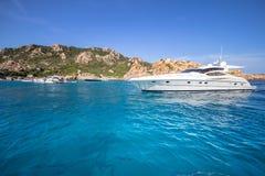 Luxury yacht in the sea. Sardinia, Italy Stock Photo