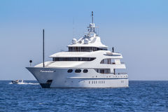 Luxury yacht in the sea. Sardinia, Italy Royalty Free Stock Images