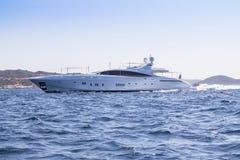 Luxury yacht in the sea. Sardinia, Italy Royalty Free Stock Photo