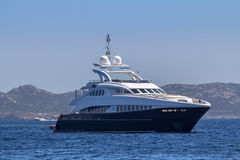 Luxury yacht in the sea Royalty Free Stock Photography