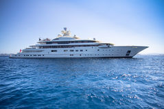 Luxury yacht in the sea Royalty Free Stock Image