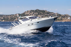 Luxury yacht in the sea Stock Photos