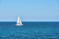Luxury yacht at sea Royalty Free Stock Image