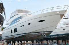 Luxury yacht at shipyard for maintenance in Phuket, Thailand Royalty Free Stock Photo