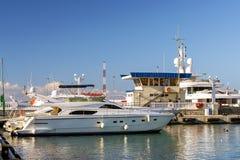 Luxury yacht in Sochi seaport, Russia Stock Photos