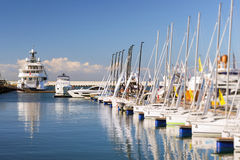 Luxury yacht in Sochi seaport, Russia Royalty Free Stock Photography