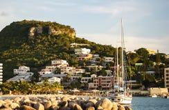 Luxury Yacht in St. Maarten Royalty Free Stock Photos
