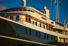 Luxury Yacht in St. Maarten Stock Image