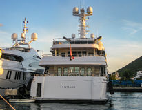 Luxury Yacht in St. Maarten Stock Photography