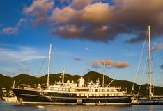 Luxury Yacht in St. Maarten Stock Photo