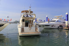 Luxury yacht sunway wy 927 departure Stock Images