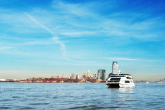 Luxury yacht transporting passengers Royalty Free Stock Photography