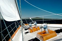 Luxury Yacht under Sail stock photography