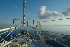 Luxury Yacht Under Sail Stock Photo