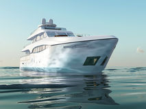 Luxury yacht on water Royalty Free Stock Photos