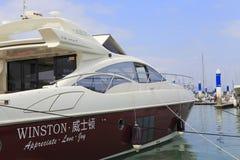 Luxury yacht winston Stock Photography