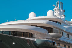 Luxury Yacht. S moored in the port of Genoa Royalty Free Stock Photo