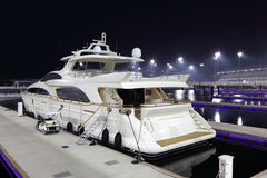 Luxury yacht in Yas Marina Stock Photo