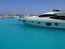 Luxury yachts 02. Luxury yachts berthed at the sekalla port in hurghada Royalty Free Stock Image